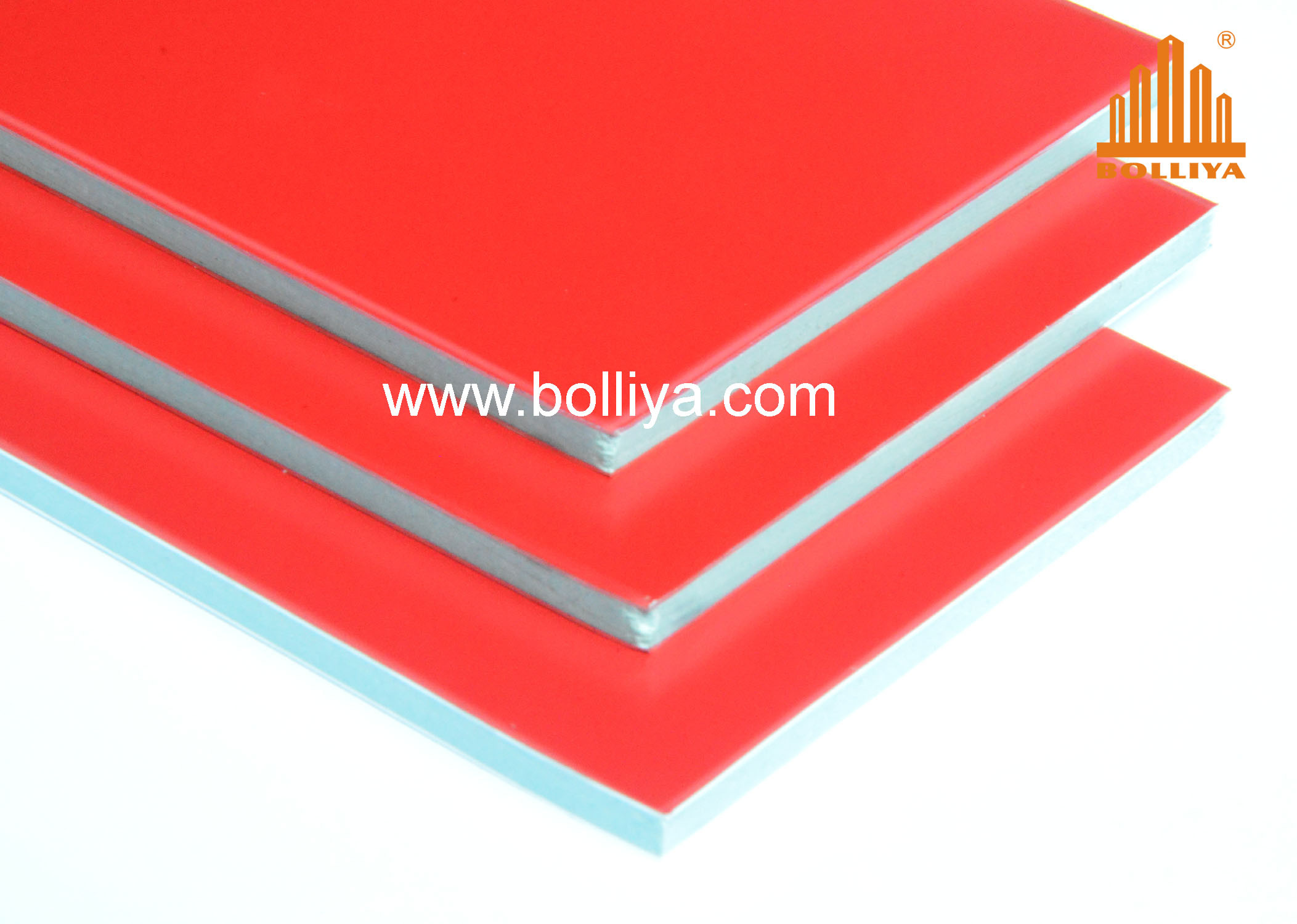 Fire Proof Aluminum Composite Panel / Fr Acm / SL-1852 Chinese Red