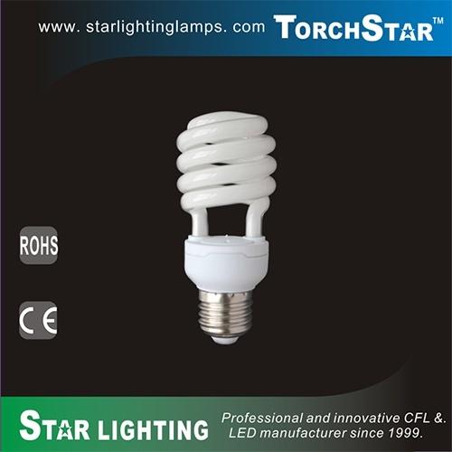 High Efficiency Tri-Phosphor 15W CFL T2 Full Spiral Light