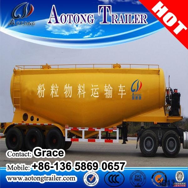 35m3 V Type Single Chamber Bulk Cement Tank Semi Trailer for Sale (volume optional)