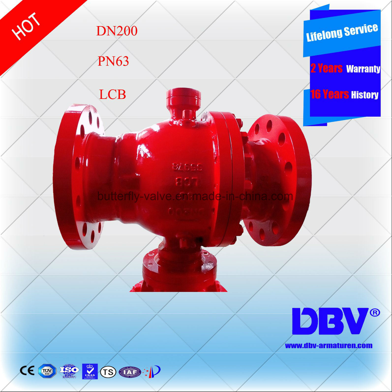 API Wcb Flange Trunnion Mounted Ball Valves with Ce