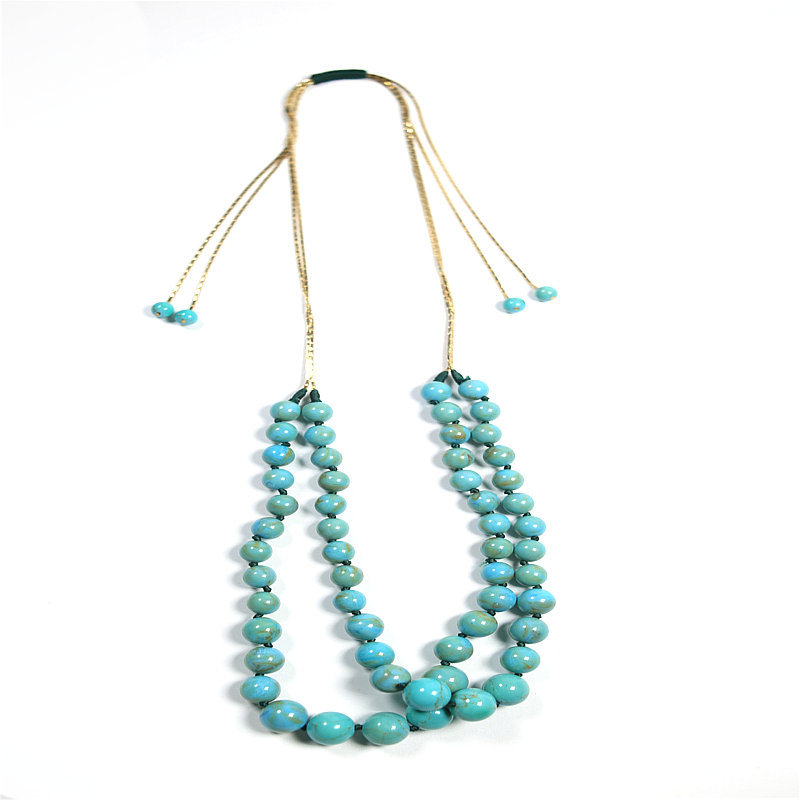 New Design Natural Stones Beads Fashion Jewelry Set Necklace