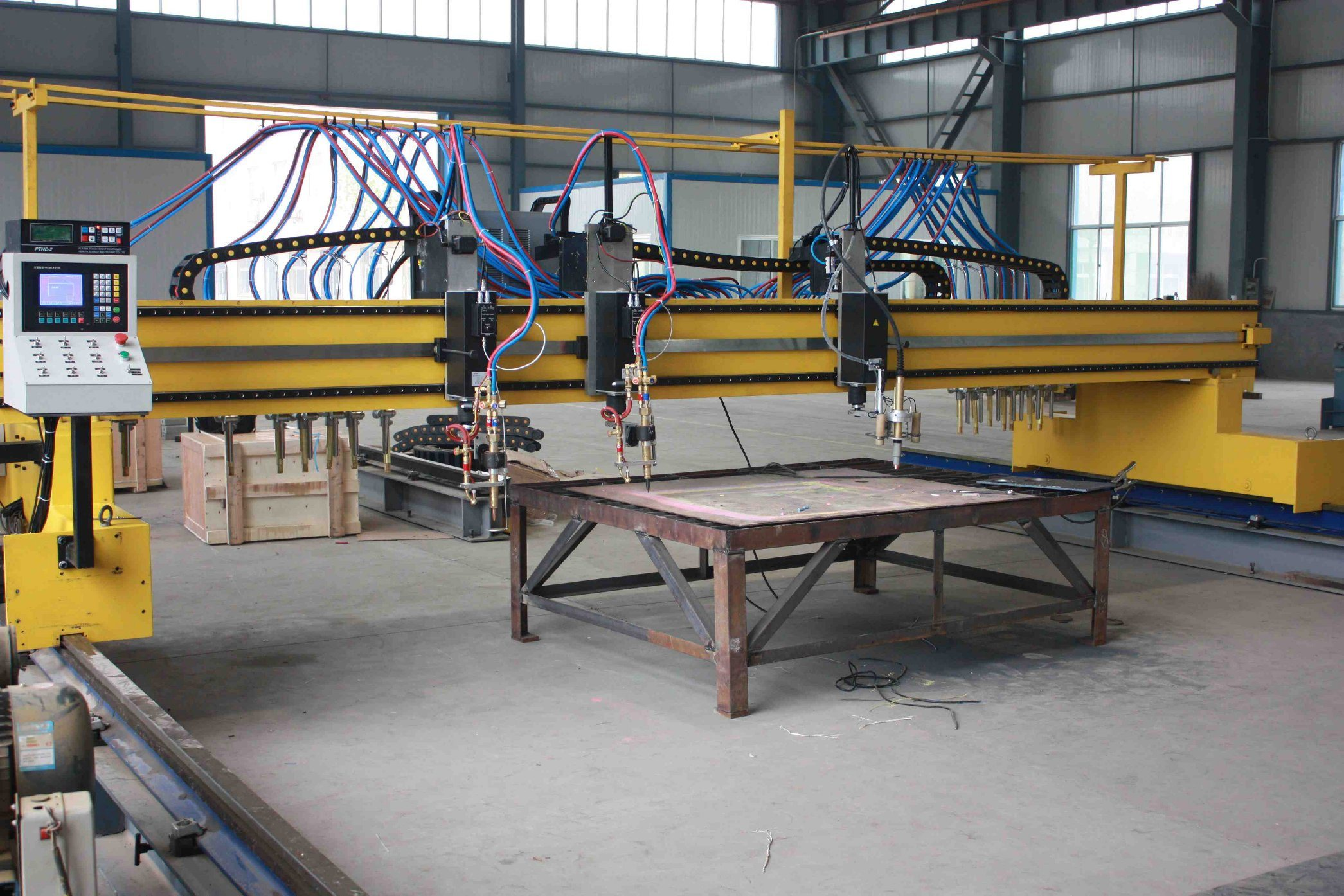 Qgi Economical Double-Side Driven Gantry-Type CNC Cutting Machine