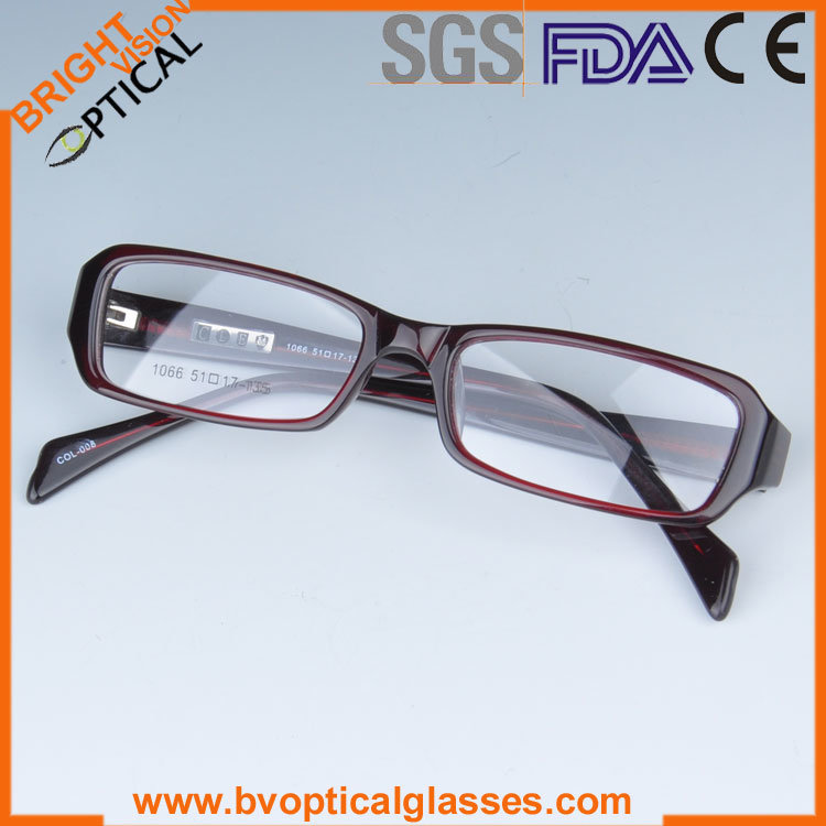 Acetate Eyeglasses Frame : China Unisex Acetate Burgendy Rx Eyeglasses Frames - China ...