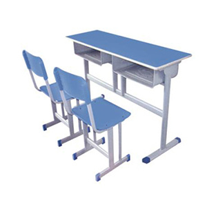 Double and Single Student Desk and Chair for Classroom Furniture