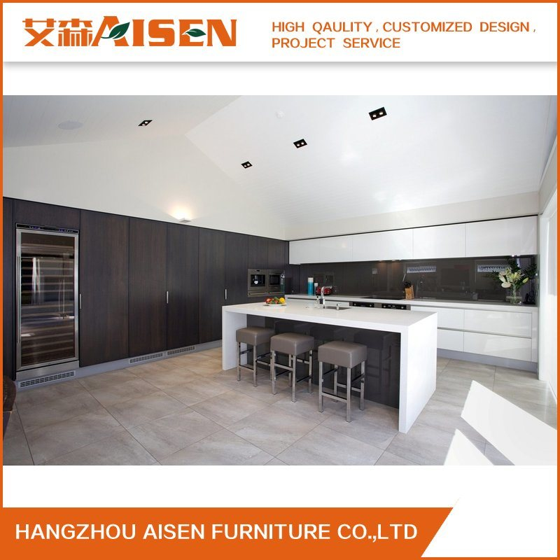 15 Years Factory Offer Lacquer&Melamine Kitchen Cabinet
