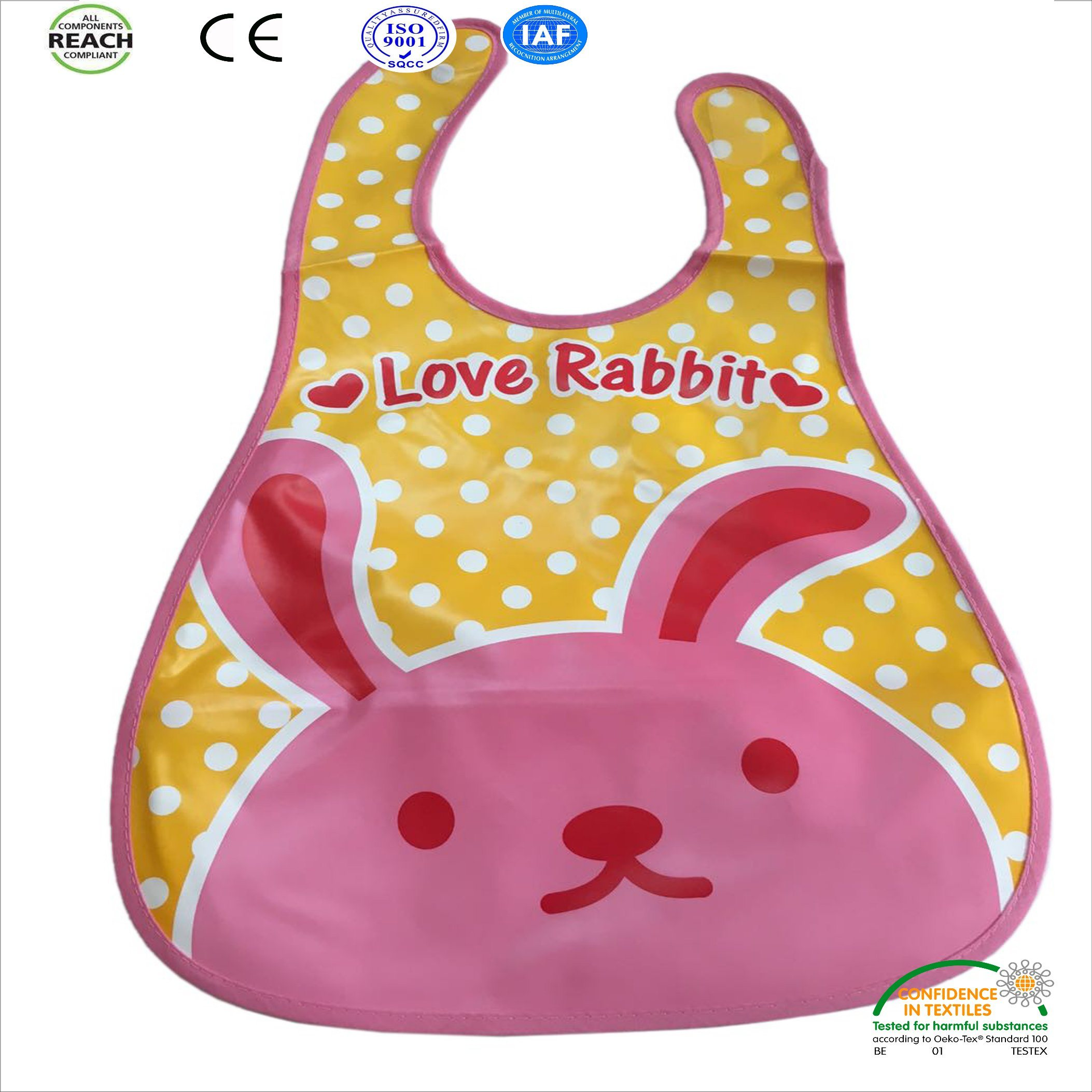 Waterproof Silicon Fashion Design Marine Animal Cartoon Design Baby Bib