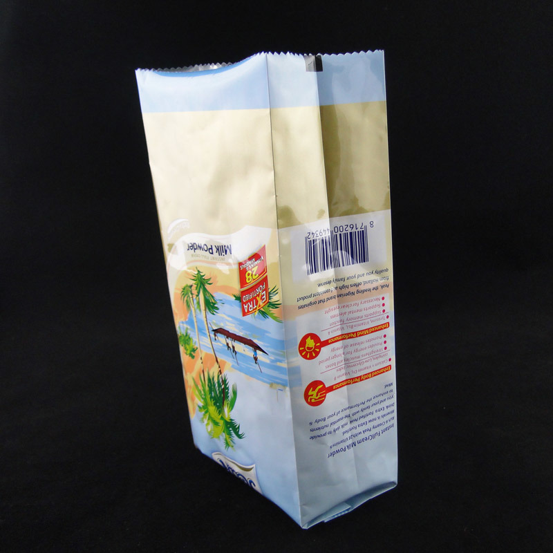 Side Gusseted Plastic Foil Bags for Coffee & Milk Powder Packaging
