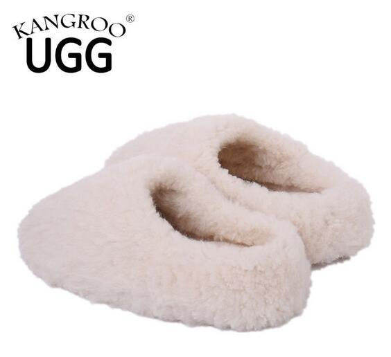 Australian Sheepskin Home Shoes Floor Slipper with Soft Sole