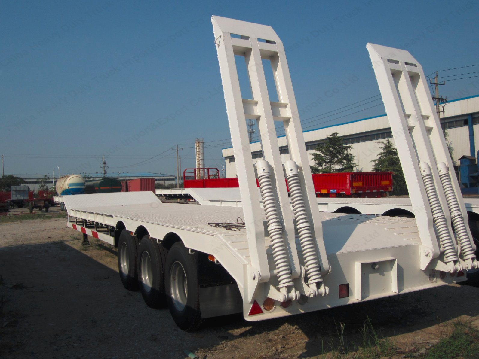 3 Axles 13m Length 60tons Gooseneck Low Bed/Lowboy Trailer for Sale