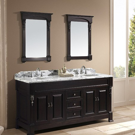 72 Double Sink Solid Wood Bathroom Vanity Gb S9011 China Bathroom LONG HAIR