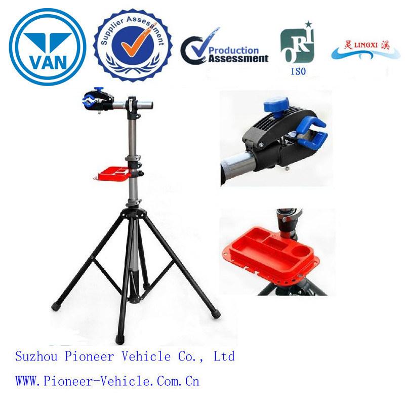 Adjustable Steel Bike Repair Stand with Multi-Function Tool Tray