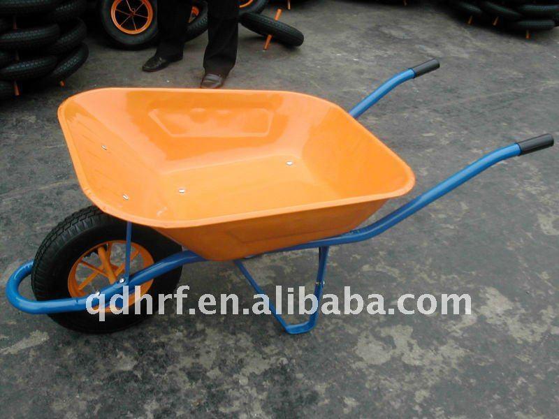 Green Construction Hand Trolley Wheel Yard Cart Wb6400