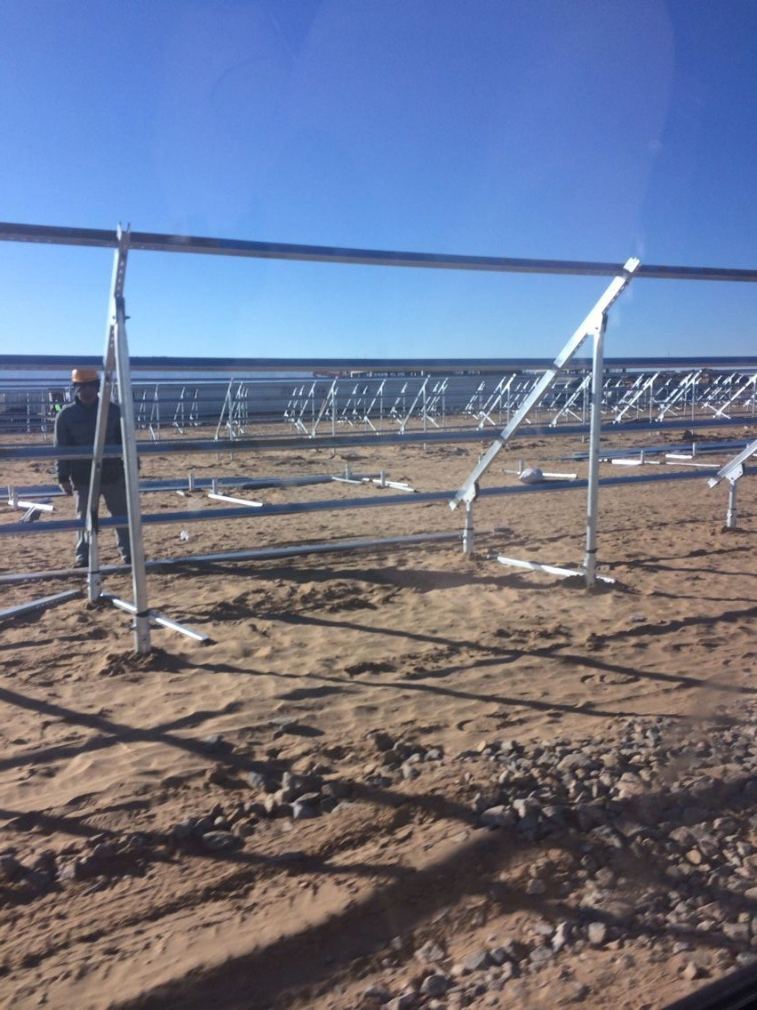 Globe Market Approval Screw Pile with Plate in Solar Energy