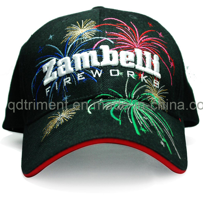 Metallic Embroidery Cotton Twill Sport Golf Baseball Cap (TRB016)