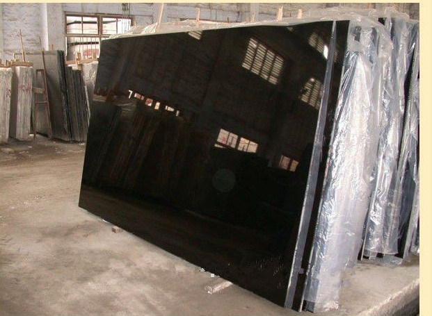 Polished Shanxi Black Stone Granite Big Slab