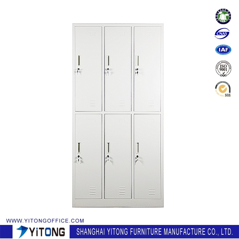 Yitong 6-Door Metal Storage Cabinet / Office Use Steel Locker