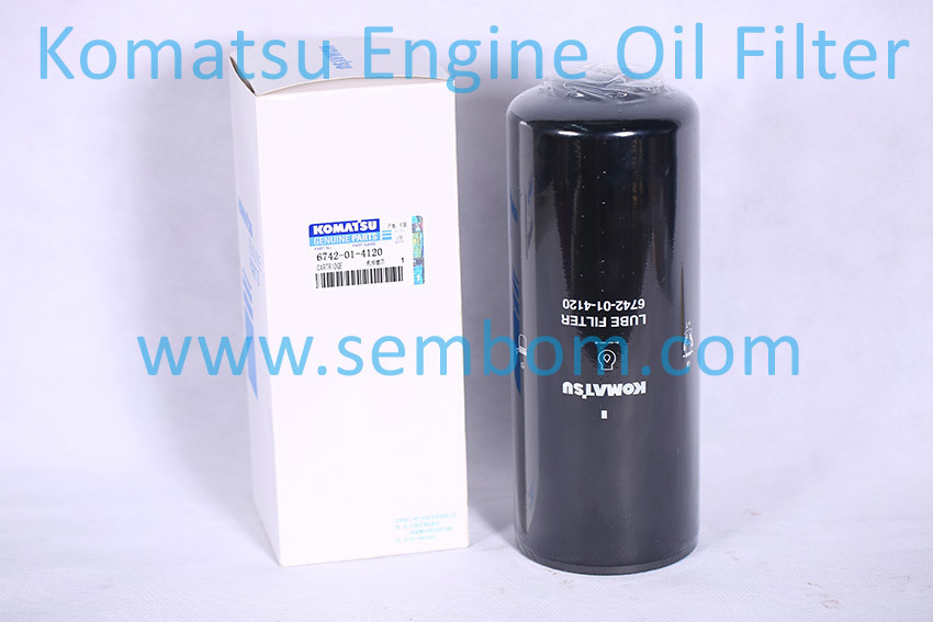 High Performance Engine Oil Filter for Komatsu Excavator/Loader/Bulldozer