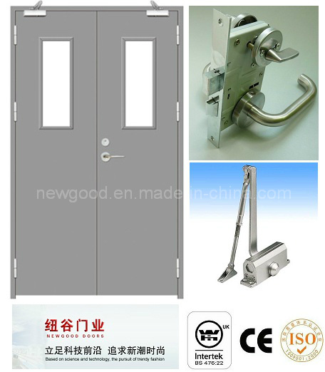Bs476/UL Certificate Approved Double Fire Door Manufacturer, Fire Rated Door, Fire Proofing Door, Steel Fire Door (30/60/90/120 Minutes)