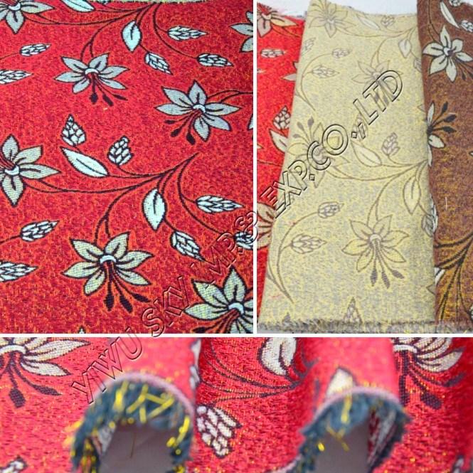 100% Polyester Jacquard Sofa Fabric with Shining Yarn 150cm Width