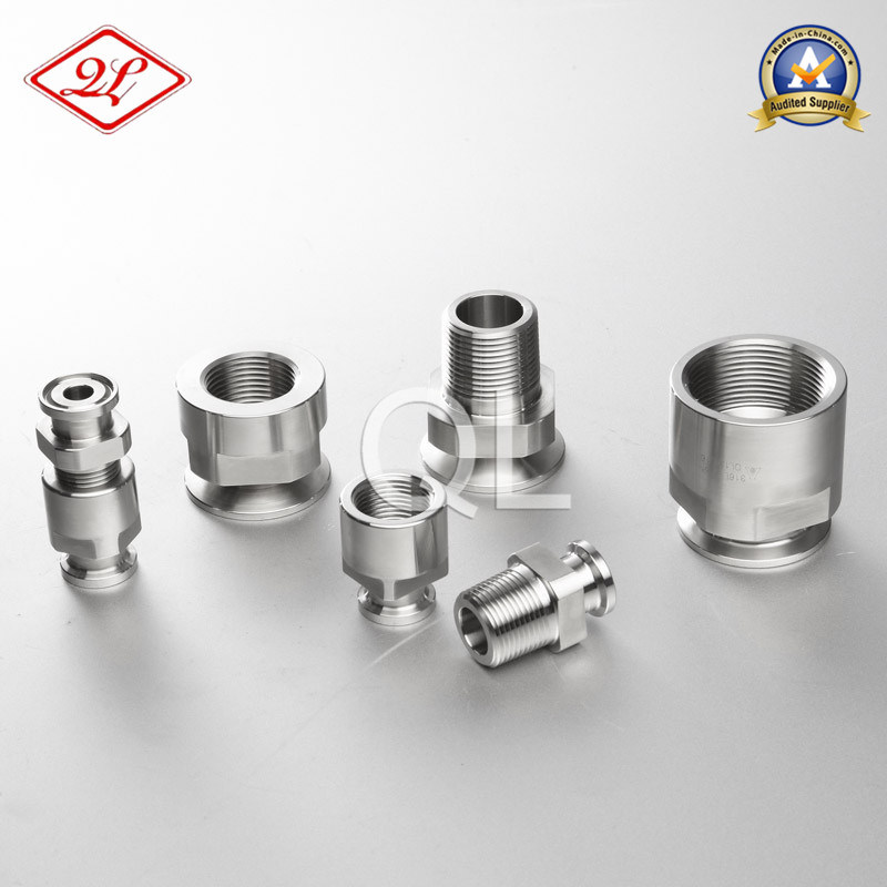 Sanitary Stainless Steel 21MP NPT Pipe Adaptor