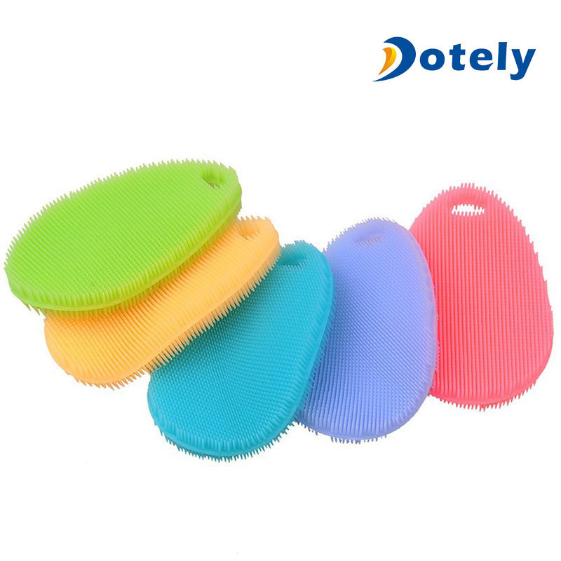 Kitchen Accessories Silicone Dish Scrubber Cleaning Brushes
