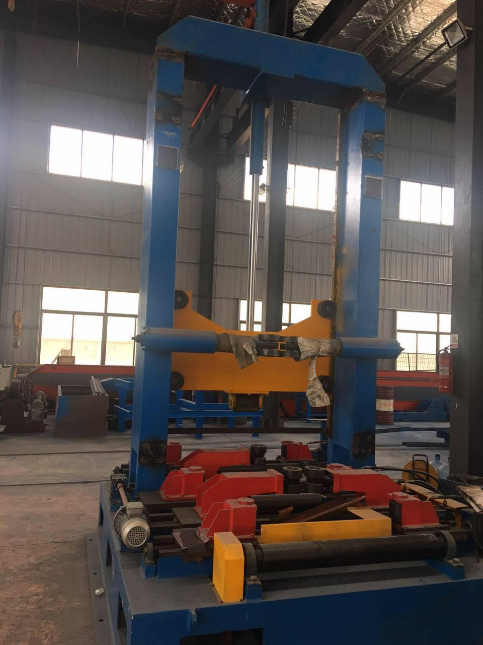 Section Steel Beam Frame Shot Blasting Machine