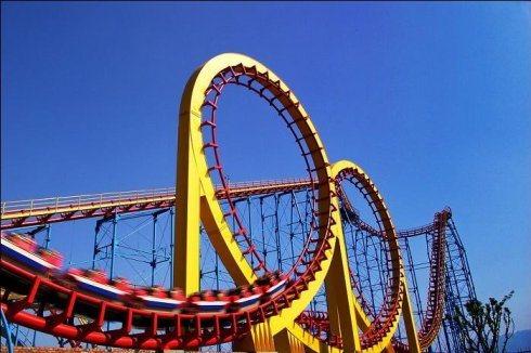 Big Roller Coaster Ride --4 Rings Roller Coaster