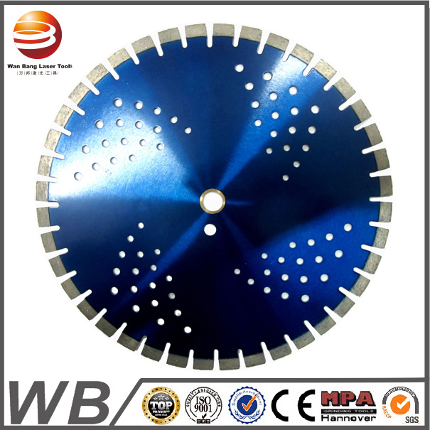 Dry Cutting Laser Welded Diamond Disc 350mm Reinforced Concrete
