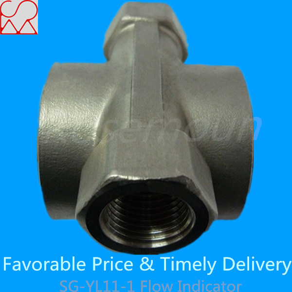 Threaded Sight Glass Water Flow Indicator with Impeller