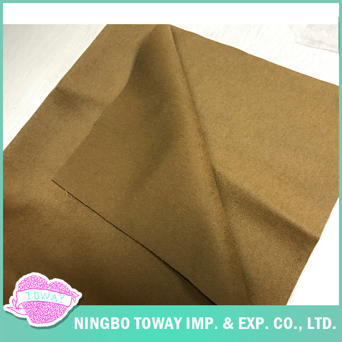 Woven Garment Worsted Double Faced Pure Wool Fabric for Overcoat