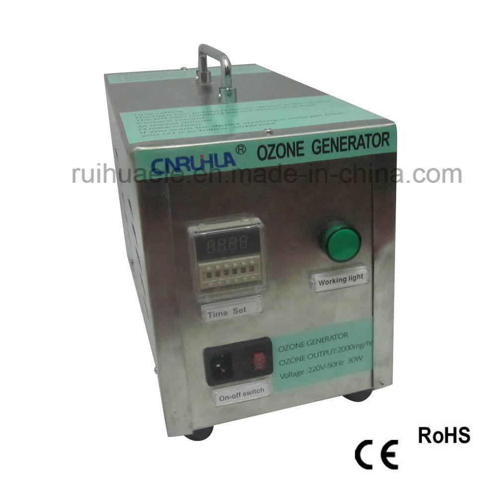Industrial Ce and RoHS 220V Portable Stainless Steel Ozone Generator