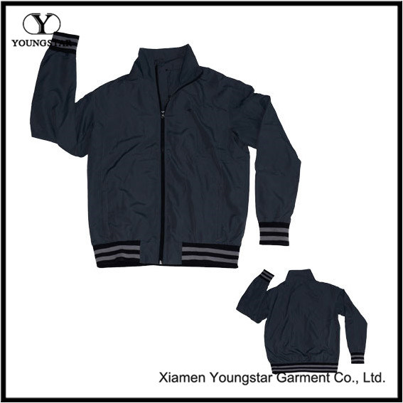 Dark Grey Black Microfiber Sports Sporty Sport Jacket for Men