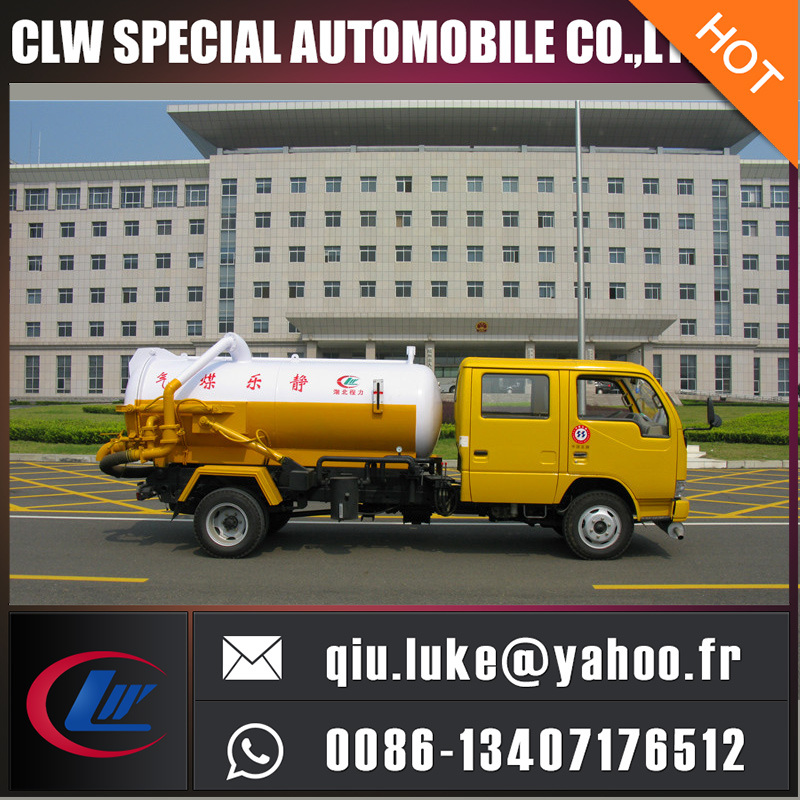 Dongfeng Mini Vacuum Septic Tank Truck 1.7 Tons Vacuum Sewage Suction Truck for Sales