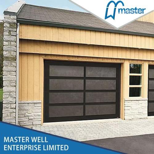 Latest Design 2016 Hot Sale Aluminum Glass Sectional Garage Doors