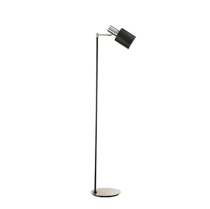 Ce/UL Matt Nickel and Black Modern Indoor Standing Light Floor Lamp for Bedroom / Living Room