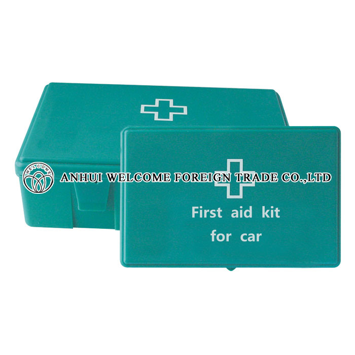 First-Aid Kit Green Box for Car