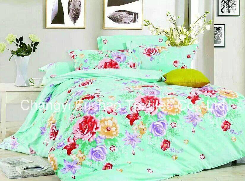 China Wholesale Microfiber Printed Bedspread Bedding Sets Stock