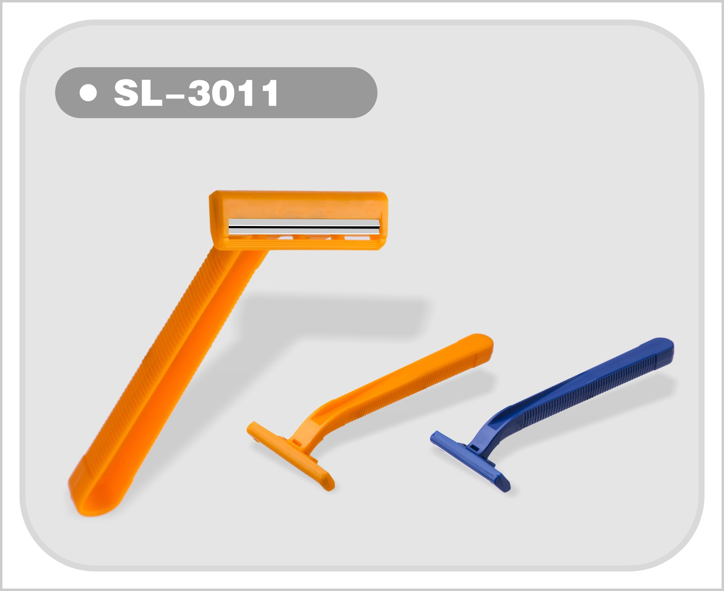 Twin Blade Disposable Shaving Razor Blade for Europe USA South America Middle East (SL-3011)