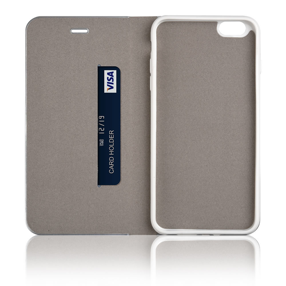 C&T Premium Leather Folio Flip Stand Wallet Electroplate Bumper TPU Inner Frame with Card Folder Case for iPhone 7