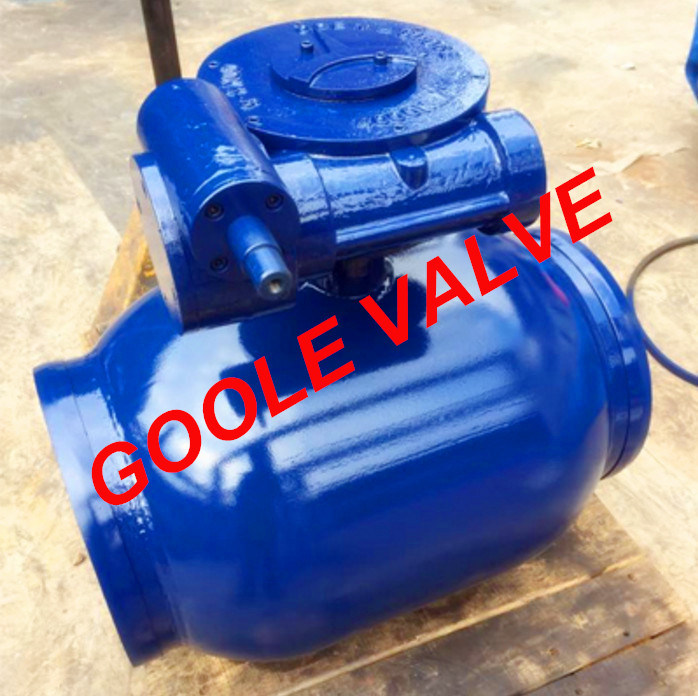 150LB/300LB/600LB/900LB Gear Operated Reduced Bore Fully Welded Ball Valve (GARQ361PPL)