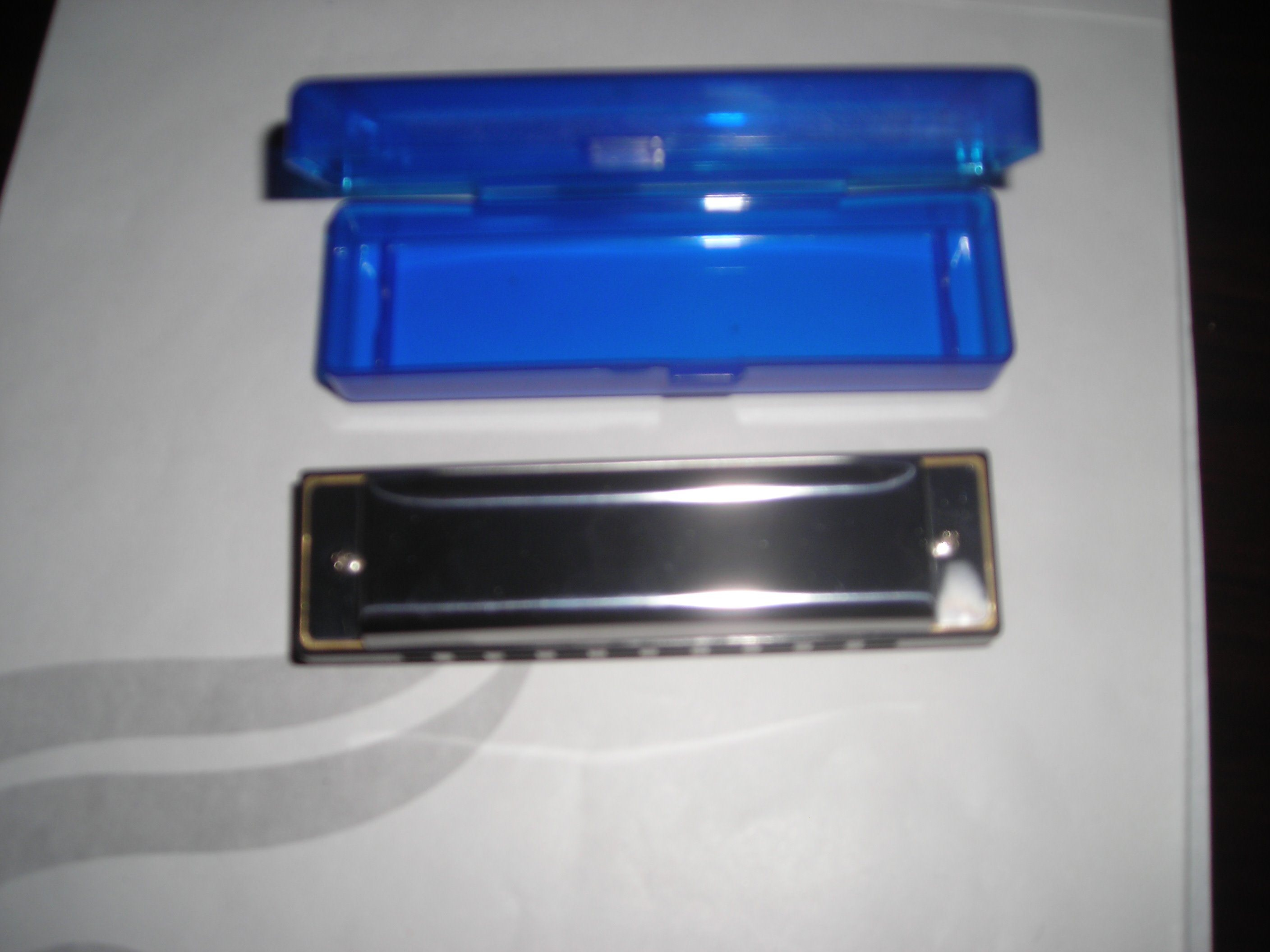 10 Holes Bruce Harmonica with Stainless Steel Cover
