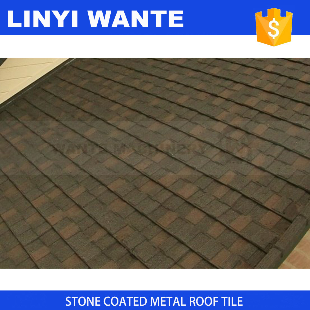 Light Weight Roofing Material Stone Coated Metal Roofing Shingle