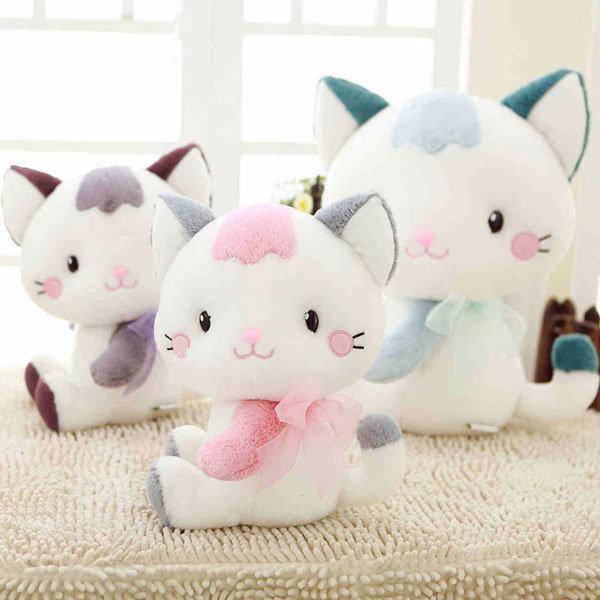 Cute White Teddy Dog Animals Plush Stuffed Toy