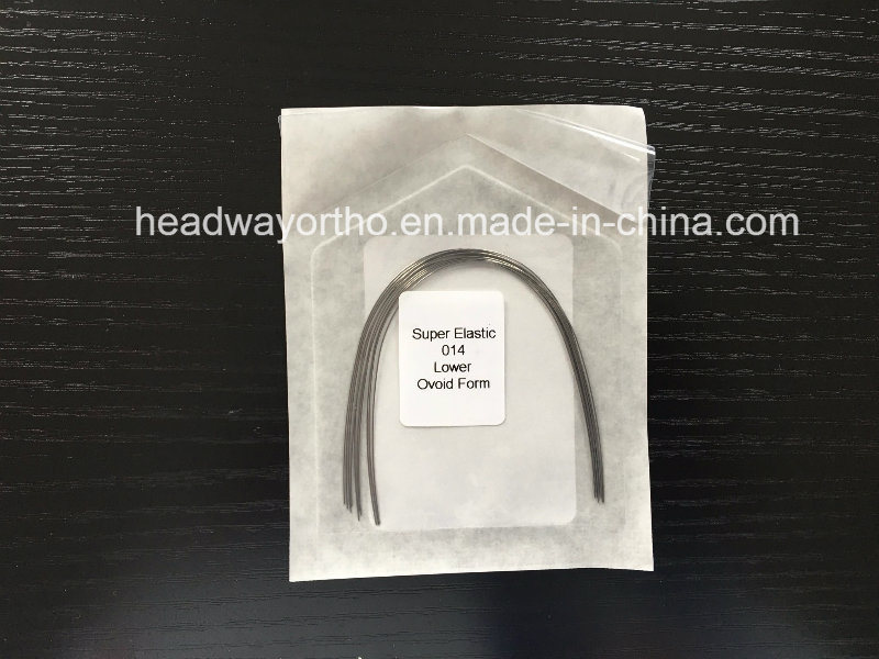 Hot Sales Super Elastic Niti Archwire, Rectangular Niti Arch Wire with Ce