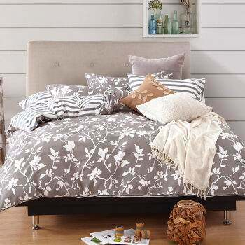 Bedding Sheet Sets with Bleach White, Dyed, Printed and Embroidery