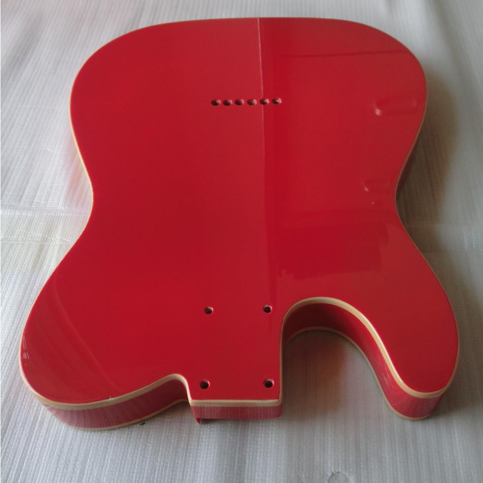 Gloss Finished Fiesta Red Double Binding Tele Guitar Body