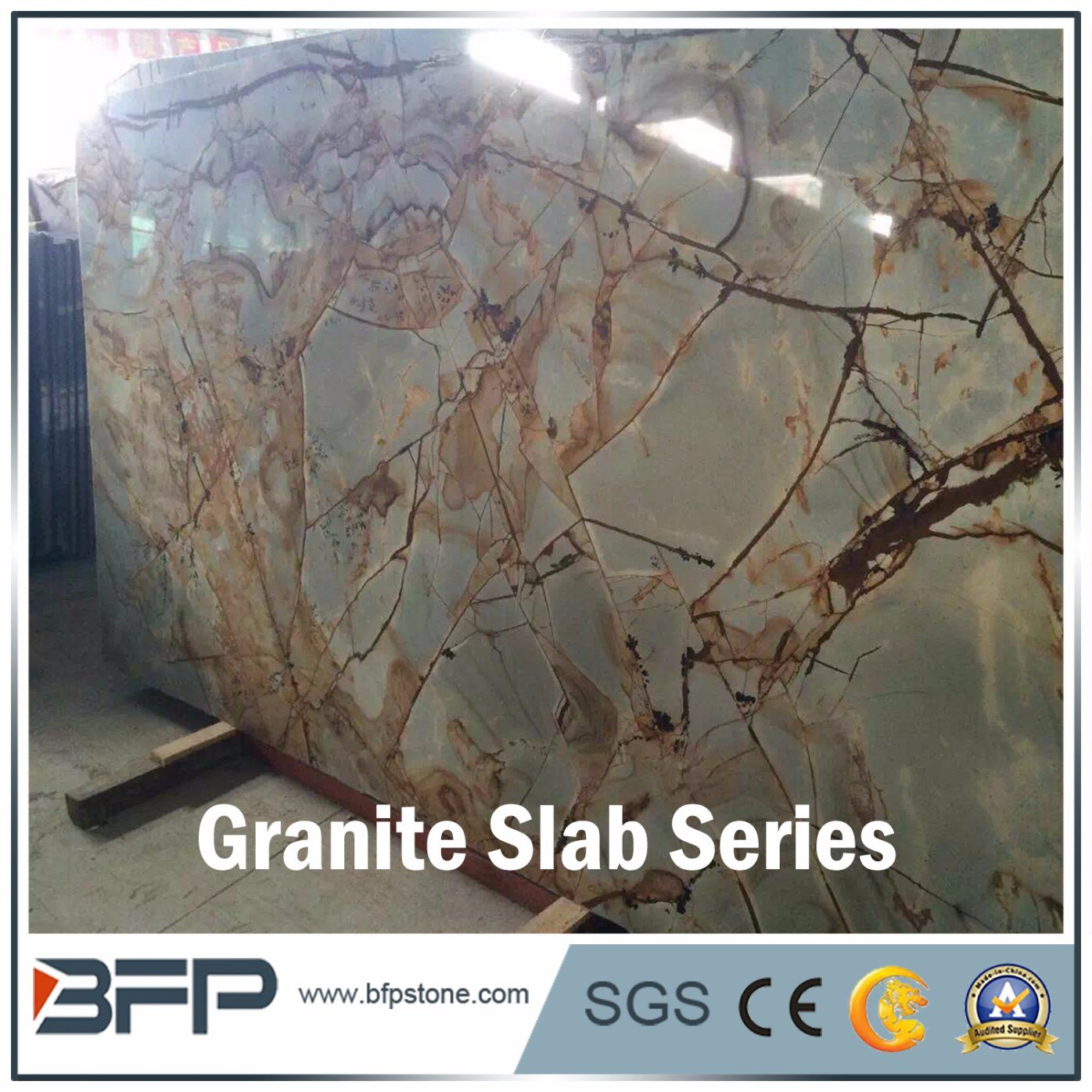 Blue and Brown Granite Slab Floor Tile and Wall Tile