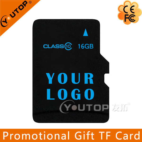 Silkscreen Your Logo Promotional Gift Micro SD TF Memory Card C4/6/10