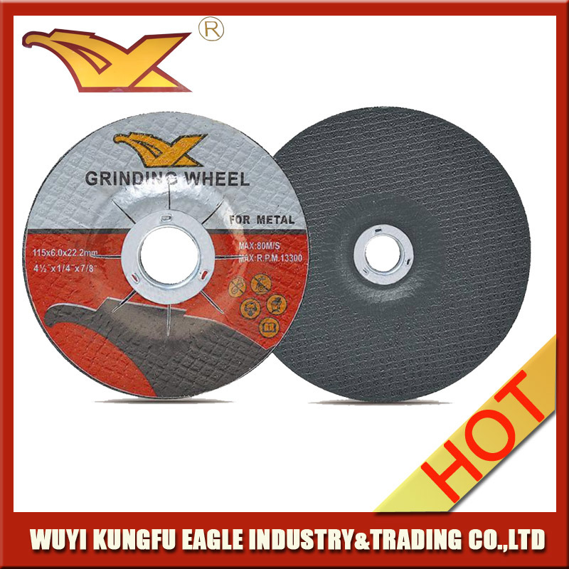 "T27 Depressed Center Grinding Disc for Metal 4 1/2 ""X1/4""X7/8"""