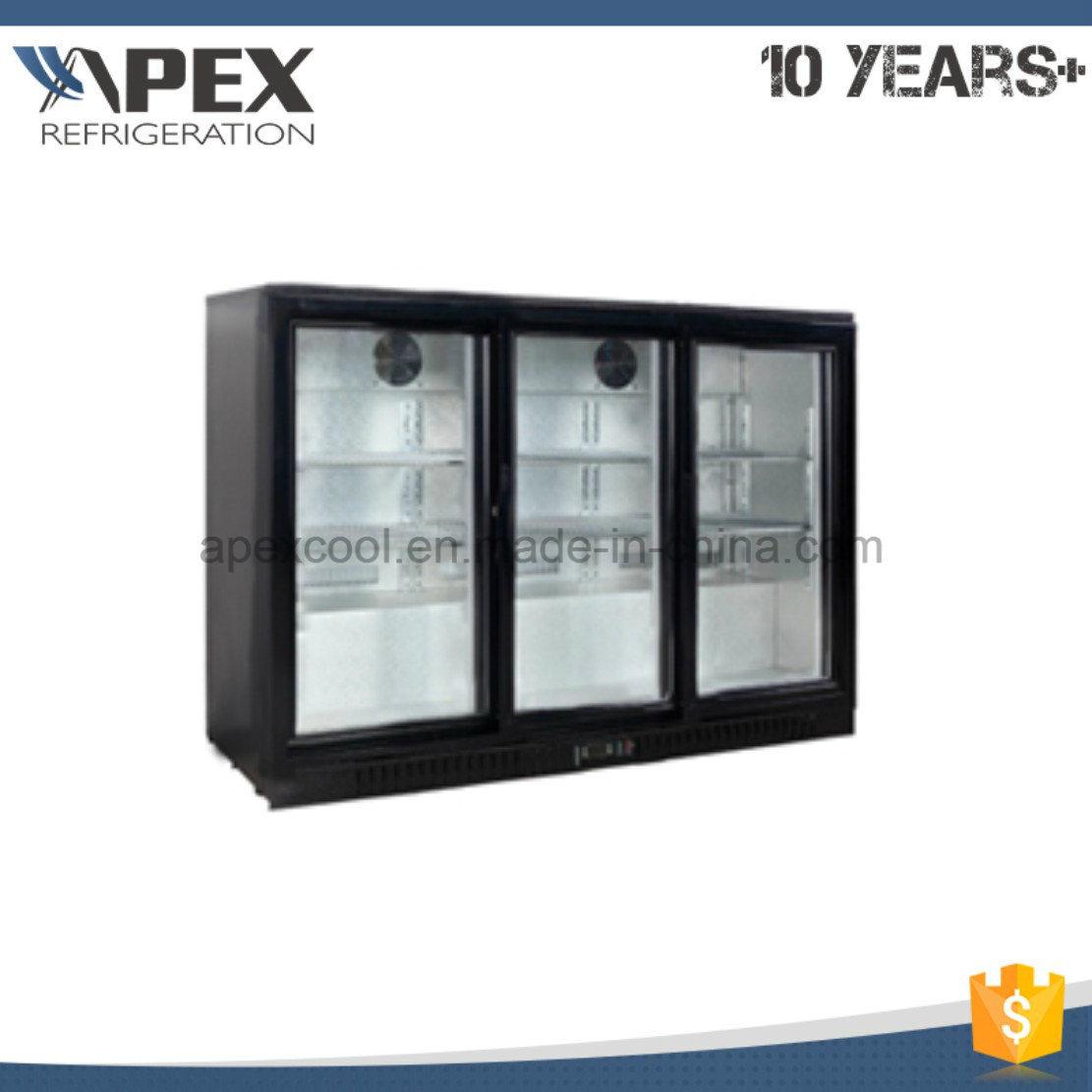 Three Door Back Bar Cooler Commercial Under Bar Refrigerator